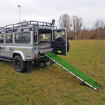Hundetransport Land Rover