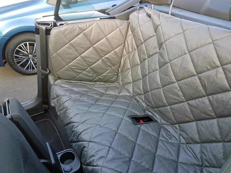r ckbankausbau f r hunde vw beetle cabrio. Black Bedroom Furniture Sets. Home Design Ideas