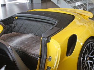 Rückbank Rücksitz Notsitz Hund Porsche 911 991 Cabrio