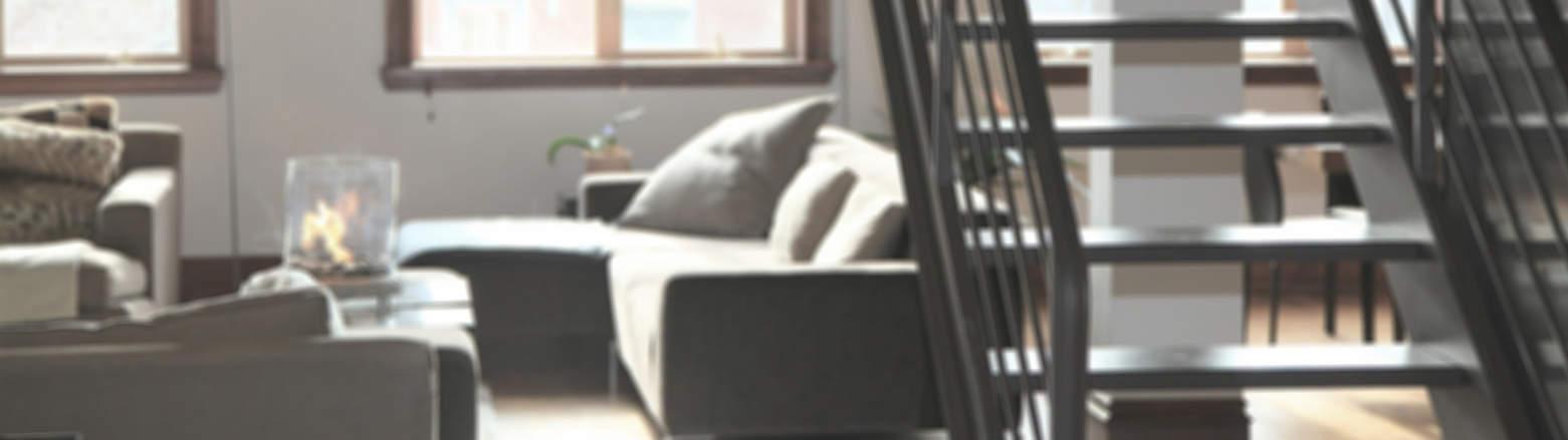Wohnzimmer-Treppe