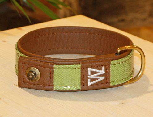 """Hundehalsband mit """"Schlange grün"""""""