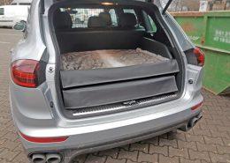 Hundetransport Kofferraumausbau Hund Porsche Cayenne Hunderampe Transport