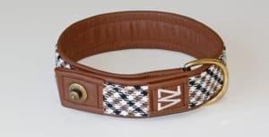 Hundehalsband Leder Porsche Pepita