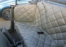 Hundetransport Rückbank Rücksitz Hund VW Beetle Cabrio Schondecke