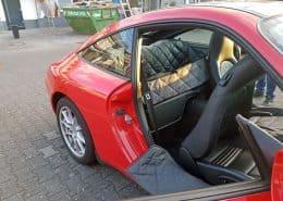 Hundetransport Rückbank Rücksitz Notsitz Hund Porsche 911 996 Coupe