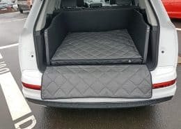 Hundetransport Kofferraum Ausbau Audi Q7 Hund