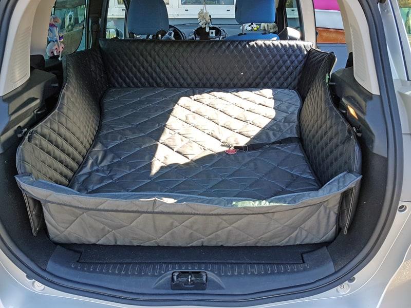 Hundetransport Kofferraum Schondecke DELUXE Ford B-Max umgelegte Rückbank Hund