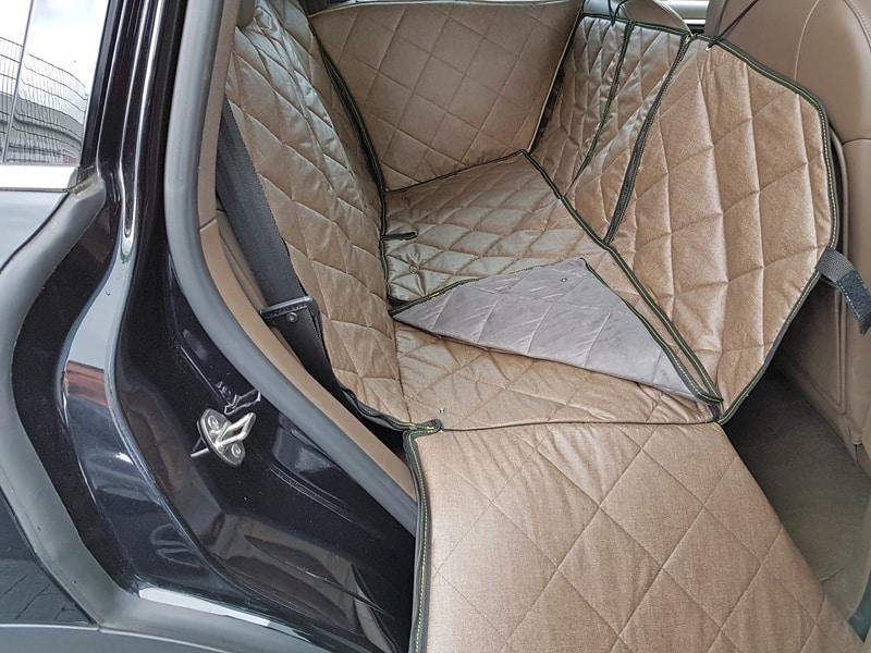 Hundetransport Rückbank Schondecke Porsche Cayenne Hund