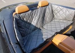 Hundetransport Schondecke Rückbank Rücksitz Hund BMW 6er Cabrio