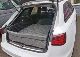 Hundetransport Kofferraum Schondecke DELUXE Audi A6 Hund