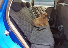 Hundetransport Rückbank Schondecke Seat Ateca Hund