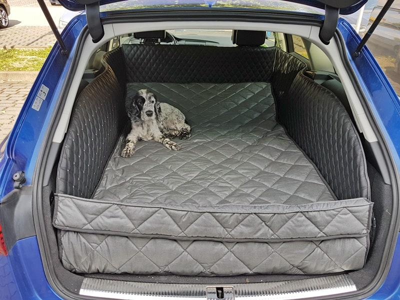 Hundetransport Kofferraum Schondecke DELUXE Audi A6 Hund umgelegte Rückbank