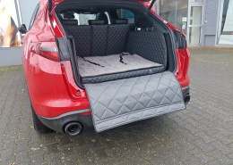 Hundetransport Kofferraum Schondecke DELUXE Alfa Romeo Stelvio Hund