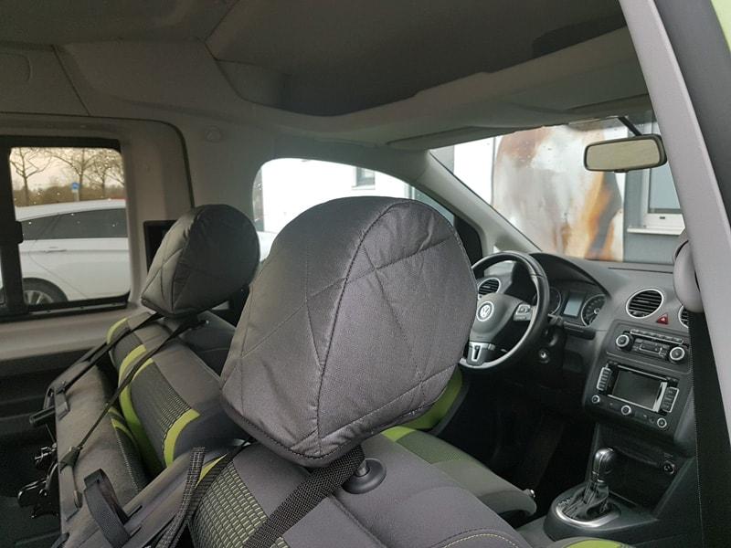 Hundetransport Kofferraum Schondecke DELUXE VW Volkswagen Caddy Hund umgelegt