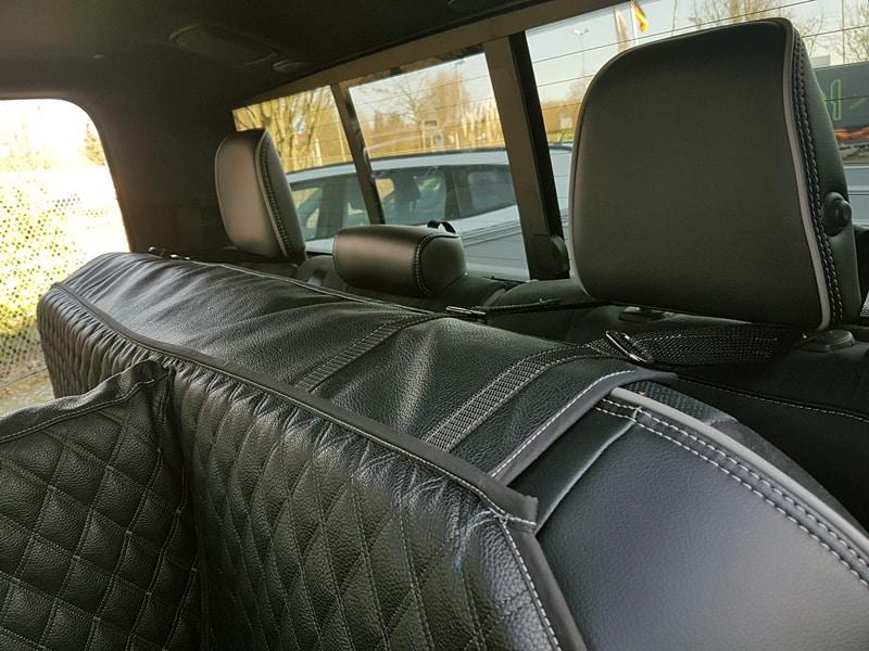 Hundetransport Rückbank Schondecke DELUXE Dodge Ram Hund geteilt